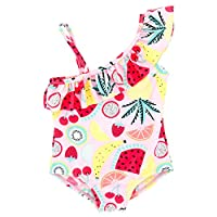 D C.Supernice Baby Girls Swimming Costume Swimwear Kids 1-6Y Quick-Drying One Piece & 2 Pieces Bikini Tankini Swimsuits