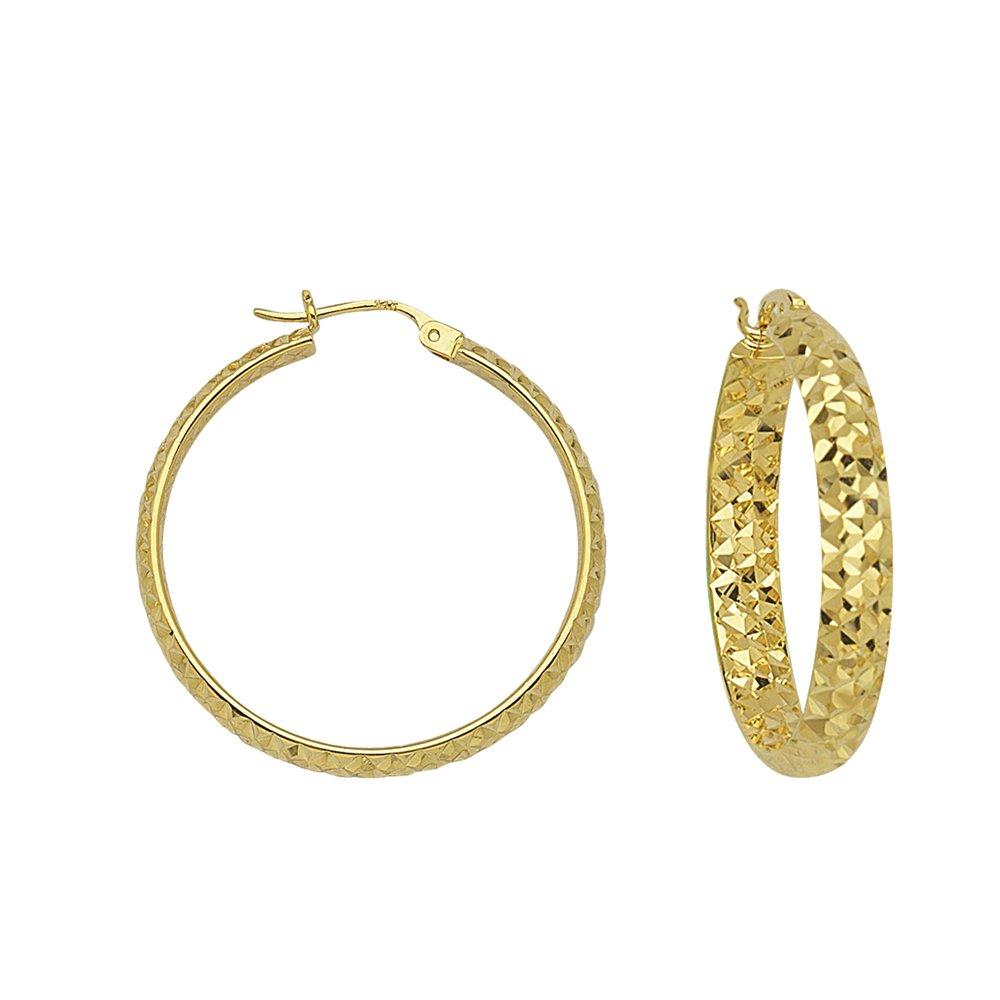 Hoop Earrings 14Kt Gold Hoop Earring
