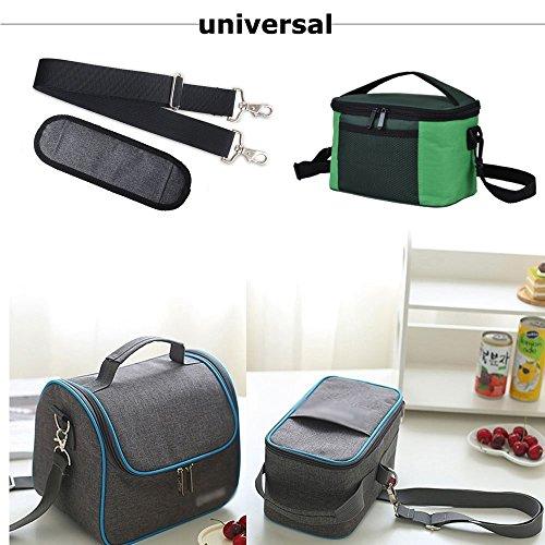 JAKAGO 150cm Universal Replacement Shoulder Straps Adjustable Bag Straps with Metal Swivel Hooks and Non-Slip Pad for Duffel Bag Laptop Briefcase Violin Bag Camera Travel Bag (Grey) by JAKAGO (Image #6)