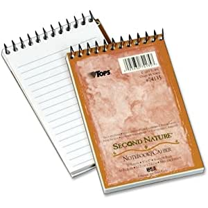 Tops Second Nature 1 Subject Notebook 50 Sheet Narrow Ruled 3 X 5 1 Each