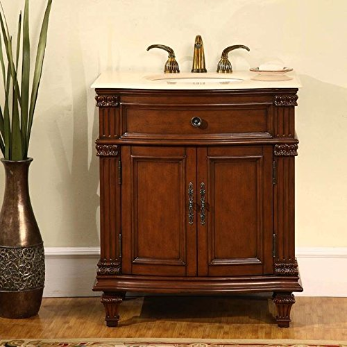 30.5 in. Sophia Single Sink Bathroom Vanity in Cherry For Sale