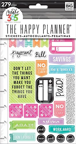 Me   My Big Ideas  Ppsp 84 Create 365 The Happy Planner Snap In Sticker Pad  Get Paid