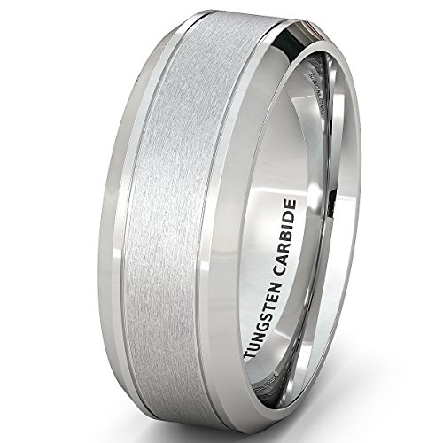 Wedding Classic Tungsten Brushed Beveled product image