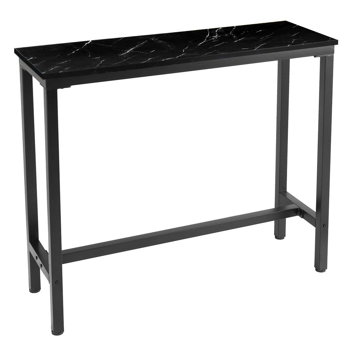 Mr IRONSTONE 47'' Pub Dining Table, Bar Height Table with Faux Marble Top (Indoor USE ONLY) by Mr IRONSTONE