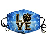 Splash LOVE Basketball Unisex Activated Carbon Anti Dust Face Mask Mouth Masks With Adjustable Straps