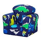 Kids Toddler Upholstered Armchair Children's Furniture - Dino in the Dark
