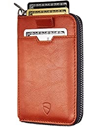 NOTTING HILL Slim Zip Wallet with RFID Protection for Cards Cash Coins