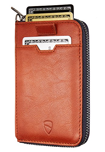 Vaultskin NOTTING HILL Slim Zip Wallet with RFID Protection for Cards Cash...