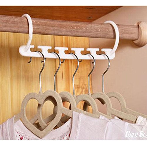 Clothes Hanger Rack Clothing Hook Magic Space Saver Organizer Set - 5