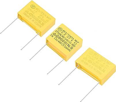 uxcell Safety Capacitors Polypropylene Film 0.047uF 275VAC X2 MKP