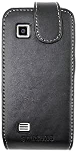 Samsung Executive - Funda de cuero para Samsung Tocco Icon, color negro