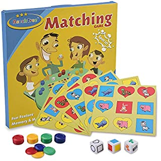 ReechTree Animals, Shape and Color Memory Matching Party Game for Toddlers Ages 3 4 5 6 Year Old, Preschool Board Game for Boys and Girls, Best Gifts Educational Toys
