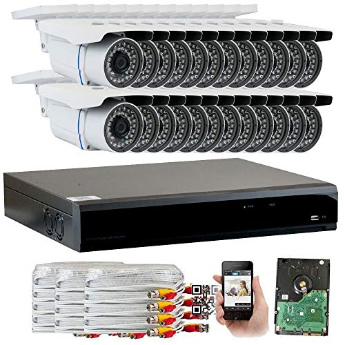 GW Security 32 Channel CCTV 5MP 2.5X 1080P Security Surveillance DVR System with 24 x Super 5.0MP HD 1920p 2592TVL Weatherproof Security Cameras,110ft IR Night Vision,8TB HDD