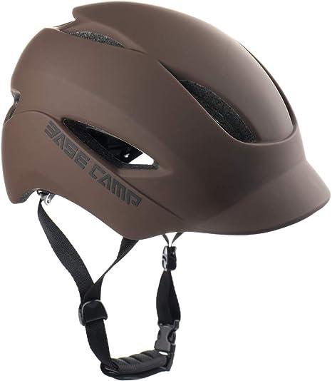 Base Camp - Casco para bicicleta de adulto con luz trasera para ...