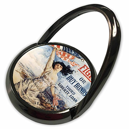 3dRose BLN Vintage World War I and World War II Posters - Vintage Fight of Buy Bonds Third Liberty Loan Poster - Phone Ring (phr_149391_1)