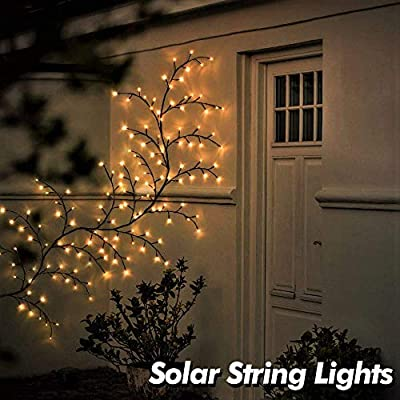 YIKBOOK Outdoor Wall Decorative Light 75 Inch DIY Tree Vine Landscape Lighting Waterproof for House Garden Yard Fence Patio Bedroom. Christmas Decorations Solar String Lights with 144 LED