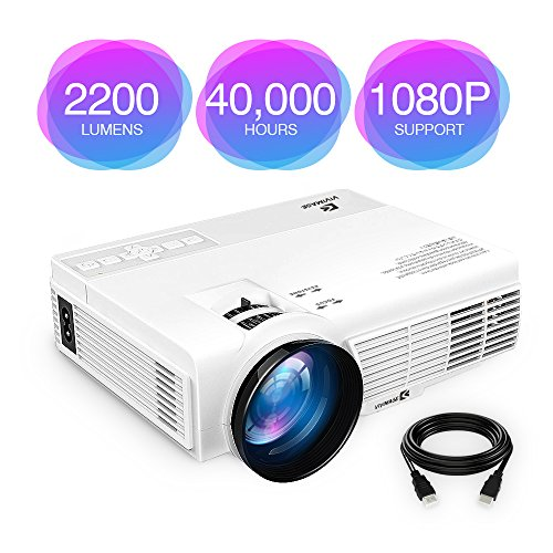 "ViviMage C3 2200 Lumens Mini LED Projector 1080P HD Supported 170"" Display Outdoor Movie Home Theater Video Projector, Support HDMI, Amazon Fire TV Stick, PS4, USB"