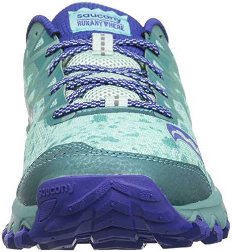 Saucony Dames Grid Caliber Tr Trail Loper Schoen Mint / Blauw