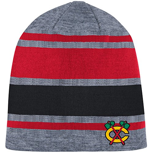 Buffalo Sabres Shoes (Mitchell & Ness Athletic Grey Beanie Knit Hat (One Size, Chicago Blackhawks))