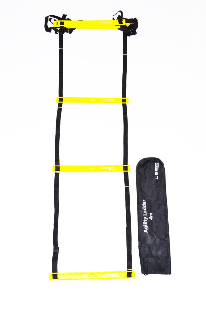 Uber Soccer Speed and Agility Training Ladder - Pro - Adjustable Plastic Rung - 13 Feet