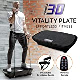 Daiwa Felicity Fitness Vibration Platform Workout Machine Remote Control & Balance Straps Included Vitality Plate