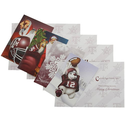 NCAA Texas A&M Aggies 12-Count Multi-Pack Christmas Cards