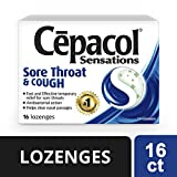 Cepacol Sensations Sore Throat and Cough, Sore Throat lozenges 16 count