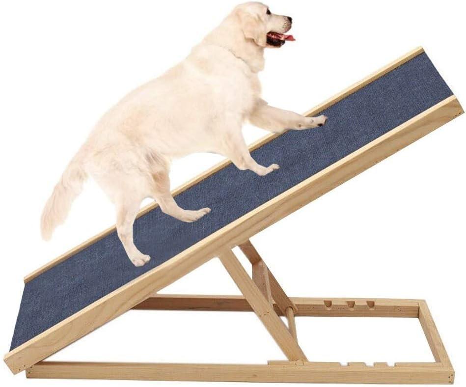 Escalera de Mascota Escaleras de Madera para Perros para Cama y sofá Alto, Rampa portátil para Mascotas para Perros Grandes y Gatos, Altura Ajustable (30-60 cm), Cargar 50 kg: Amazon.es: Hogar