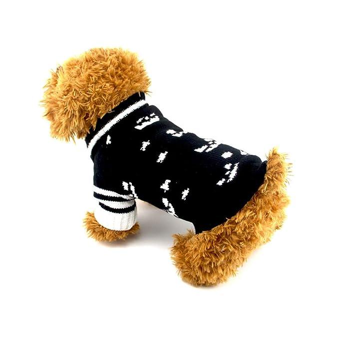Ropa para Mascotas,Dragon868 Suéteres de Punto de cráneo Cool Mascotas Perros Gato: Amazon.es: Ropa y accesorios