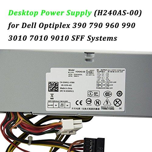 240W Watt Desktop Power Supply Unit PSU for Dell Optiplex 390 790 960 990 3010 7010 9010 Small Form Factor SFF Systems 3WN11 PH3C2 2TXYM 709MT H240AS-00 DPS-240WB by IMSurQltyPrise (Image #2)