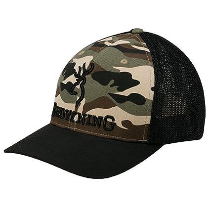 Amazon.com   Browning Branded Flex Fit Mesh Back Hat Ball Cap - Camo ... 4dc496142e5