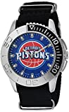 Game Time Men's 'Starter'  Metal and Nylon Quartz Analog  Watch, Color:Black (Model: NBA-STA-DET)