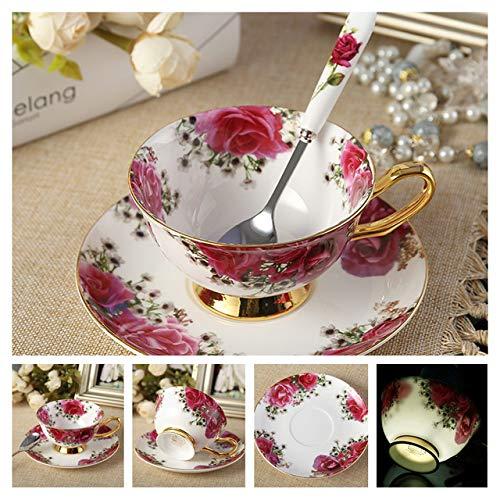 Yanluzz Noble Bone China Coffee Cup Dish Set 200Ml Luxury Ceramic Mug High-Grade Porcelain Cup Milk Coffee Party Drinking Utensils J -