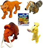 Kiss your Ice Goodbye Ice Age 5 Collision Course Cartoon & Collectible Figures Set Ice Age DVD + MANNY, DIEGO, SID & SCRAT 4-pack Animated Bundle toy movie Set