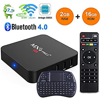 MXQ Pro Android 7 1 TV Box 2GB Ram 16GB Rom Quad Core Amlogic S905X  2 4Ghz/5Ghz Dual WiFi True 4K Playing with Bluetooth Full HD Media Player  with