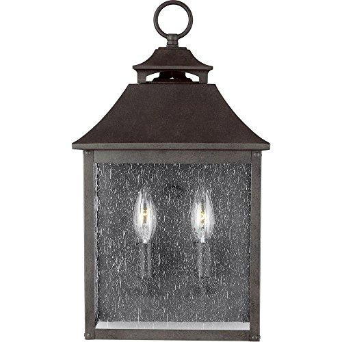 Feiss OL14400SBL Galena Outdoor Post Lighting, Sable 2-Light (10