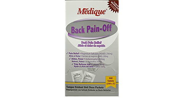 073-13 Back Pain-Off Tablets 500 Per Box by Medique Pharmaceuticals -Part no. 073-13: Industrial Products: Amazon.com: Industrial & Scientific