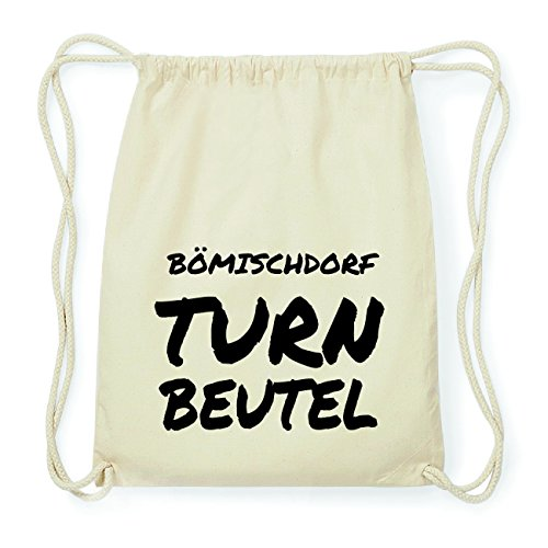 JOllify BÖMISCHDORF Hipster Turnbeutel Tasche Rucksack aus Baumwolle - Farbe: natur Design: Turnbeutel