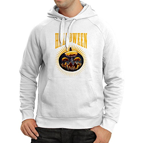 Hoodie Halloween Pumpkin - Clever Party Costume Ideas 2017 (XXX-Large White Multi Color)