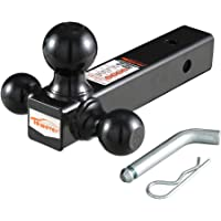 Class III-6 Drop, 4 Rise-5000 lbs. Gloss Black Powder-Coat Finish Quick Products QP-HS2807 Trailer Ball Mount