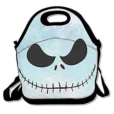 ZMvise Before Christmas Jack Skull Skellington Lunch Tote Insulated Reusable Picnic Lunch Bags Boxes Men Women Kids Toddler Nurses Travel Bag