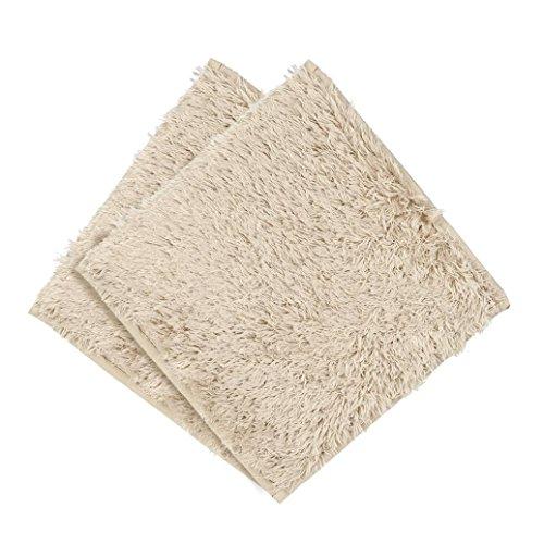 Footboard Nightstand Set (IKevan Absorbent Soft Bath Bedroom Floor Square Mat Shower Rug Non-slip Carpet (Khaki))