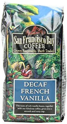 San Francisco Bay Coffee Whole Bean, Decaf French Vanilla Coffee, 12 Ounce (Pack of 3)