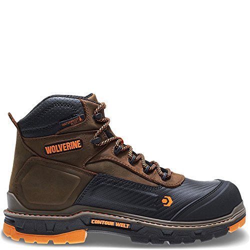 Wolverine Men's Overpass 6' Composite Toe Waterproof Work Boot, Summer Brown, 9 W US