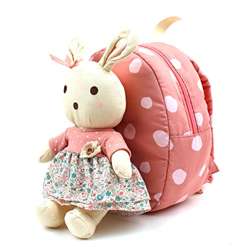 WINGHOUSE x RoraAiley Cute Rabbit Plush Doll Backpack with Safety Harness for Toddler