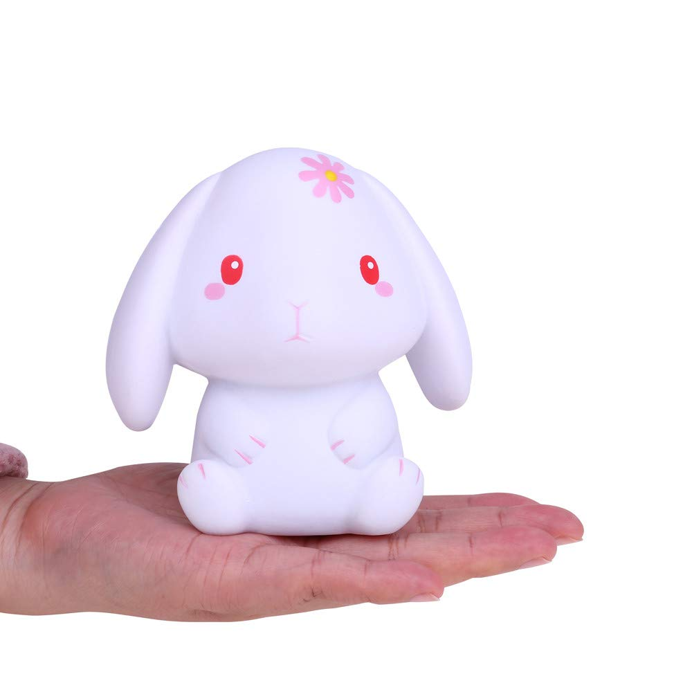 Kasien Slow Rising Toy, Squishies Adorable Rabbit Slow Rising Cream Squeeze Scented Stress Relief Toys (B)