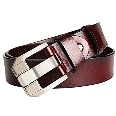 Men's Belt, Sunzel Cow Leather Belt Men With Anti-Scratch Buckle