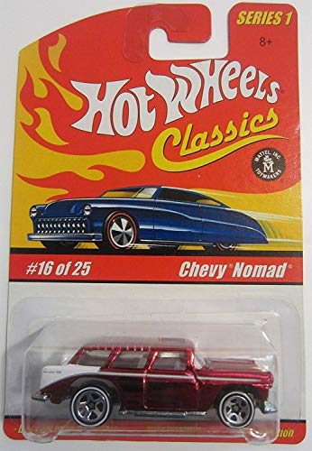 - Hot Wheels Classic Series 1: Chevy Nomad #16 of 25 1:64 Scale Collectible Die Cast Car with a Special Spectraflame Paint