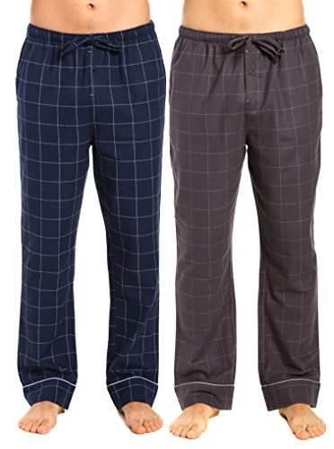 Noble Iron - Noble Mount Men's Flannel Pants - 2pk - Windowpane Checks Iron-Navy - X-Large