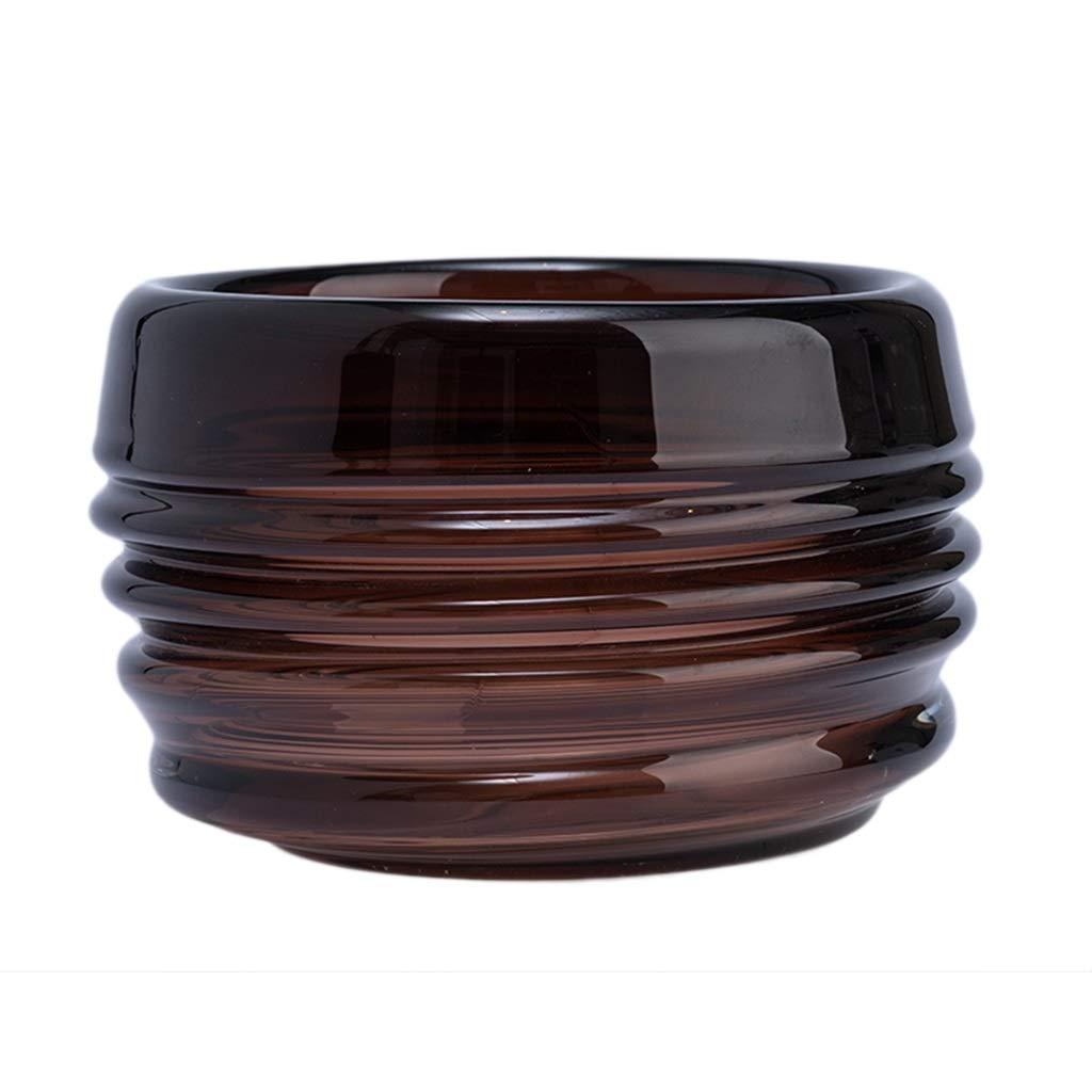 フラワーベース花器 花瓶モダンスレッドコンテナ3サイズ選択モデルルームデコレーションポーチリビングルームデコレーションドライフラワーアレンジギフト (Color : Brown, Size : 17*17*22cm) B07SBZMQ91 Brown 17*17*22cm